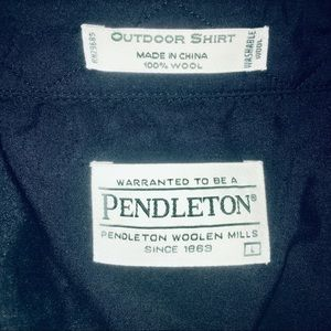Pendleton Shirts - PENDLETON MENS LARGE 100% WOOL OUTDOOR SHIRT L@@K